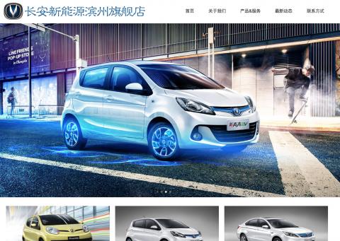 滨州长安新能源网站设计