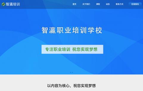 滨州智瀛职业培训学校网站设计